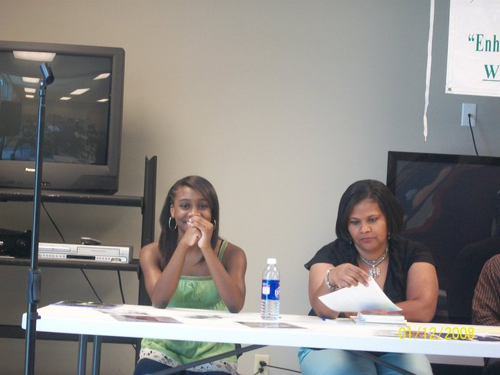 Panel members: L-R: Teen Pop Singer Rumill & Published Author Sylvia Lett